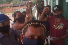Treffen mit Vertretern der Indianserbehörde FUNAI  in Tabatinga, an der Grenze zu Peru und Kolumbien