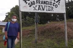 Ankunft von Ivanise in einem Dorf der Kokama am 03.07.2020