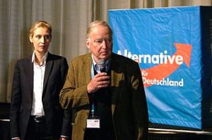 Alice Weidel und Alexander Gauland auf einem AfD Bundesparteitag