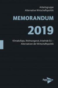 Arbeitsgruppe Alternative Wirtschaftspolitik -Memorandum 2019